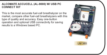 ALCOMATE ACCUCELL (AL-9000) W/ USB PC CONNECT KIT