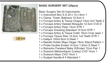 BASIC SURGERY SET (24pcs)