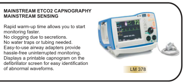 MAINSTREAM ETCO2 CAPNOGRAPHY MAINSTREAM SENSING